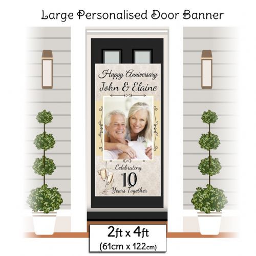 Personalised Wedding Anniversary Door PHOTO Banner Poster ~ N14 Any Year